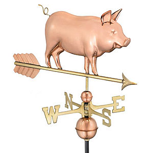 Copper Country Pig Weathervane.