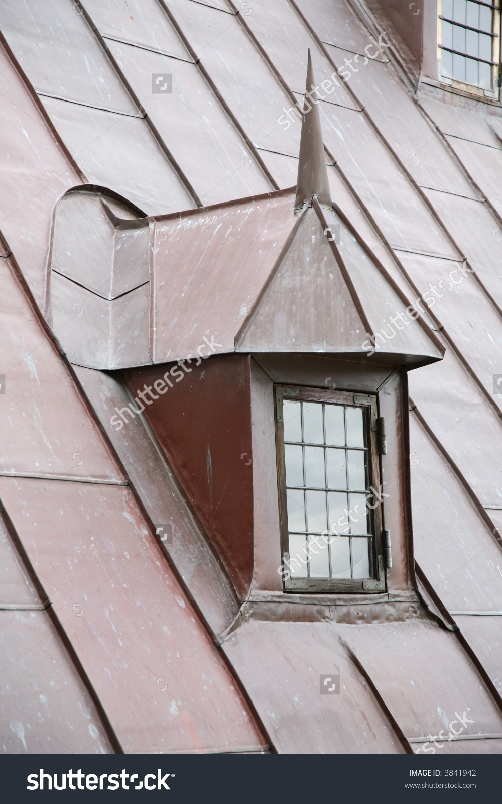 Copper Roof Leaded Dormer Window On Stock Photo 3841942.