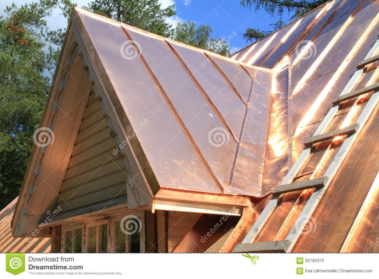 A Copper Roof Stock Photos.