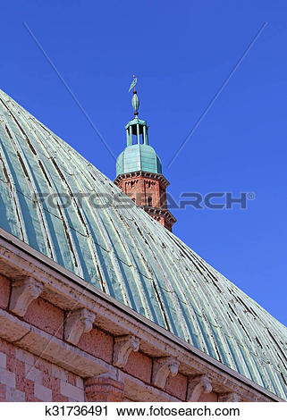 Stock Photography of tower of Basilica Palladiana by Andrea.