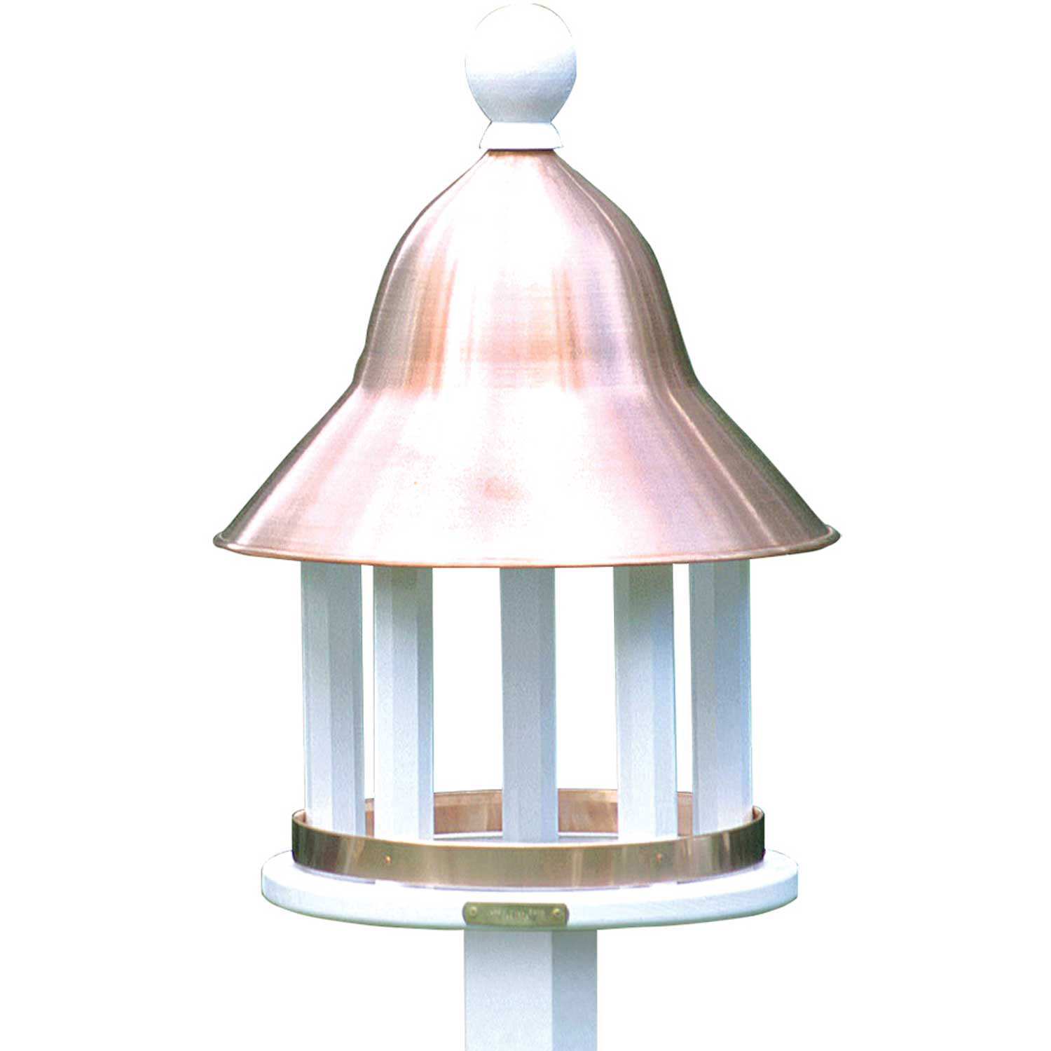 Bell Bird Feeder w Polished Copper Roof.