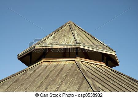 Stock Photo of Copper Roof.
