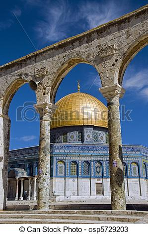Stock Photos of mosk with the copper roof in jerusalem, israel.