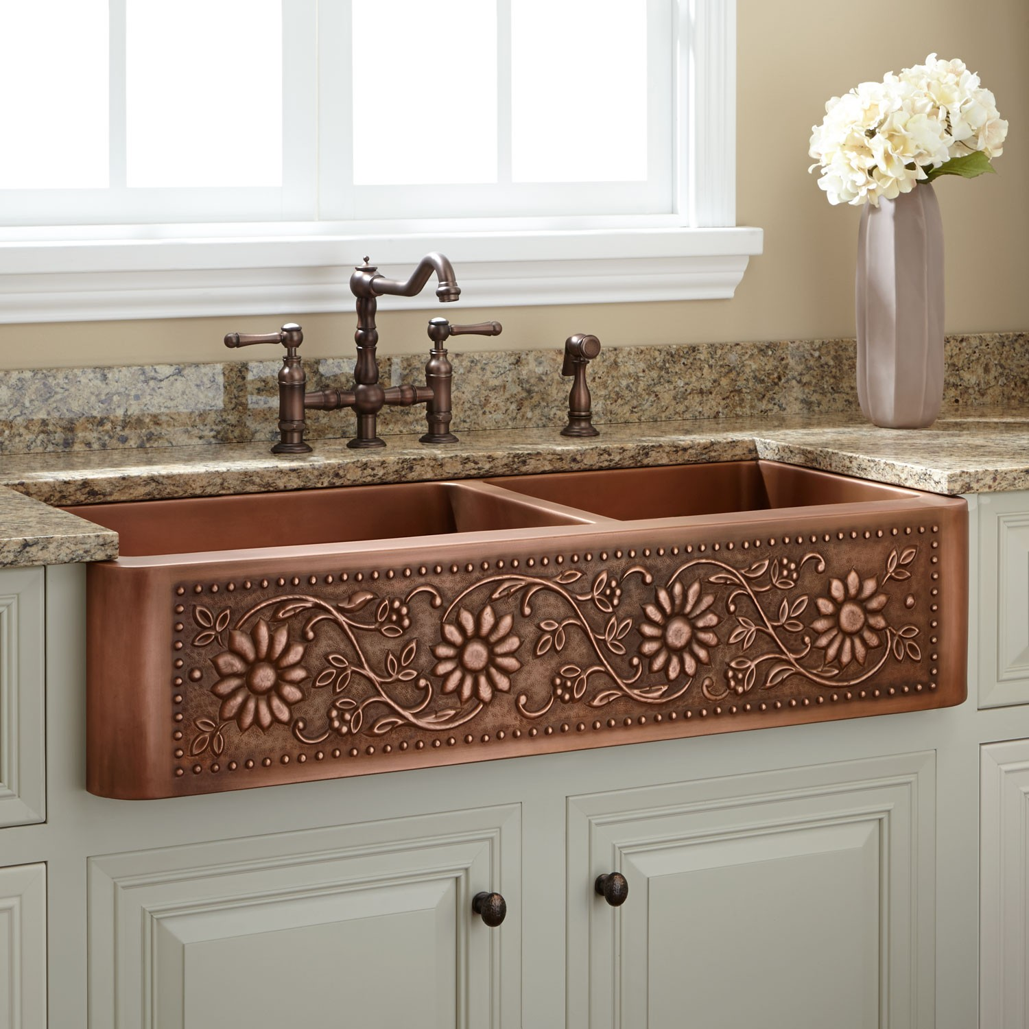 Kitchen Sink. 378521 Copper Farmhouse Kitchen. 361769 L Double.