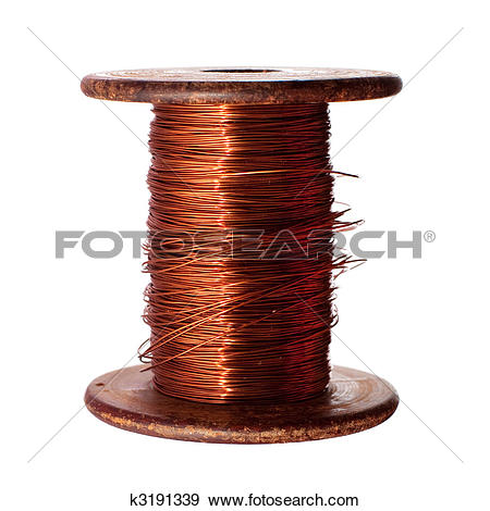 Stock Photo of roll of copper wire k5741523.