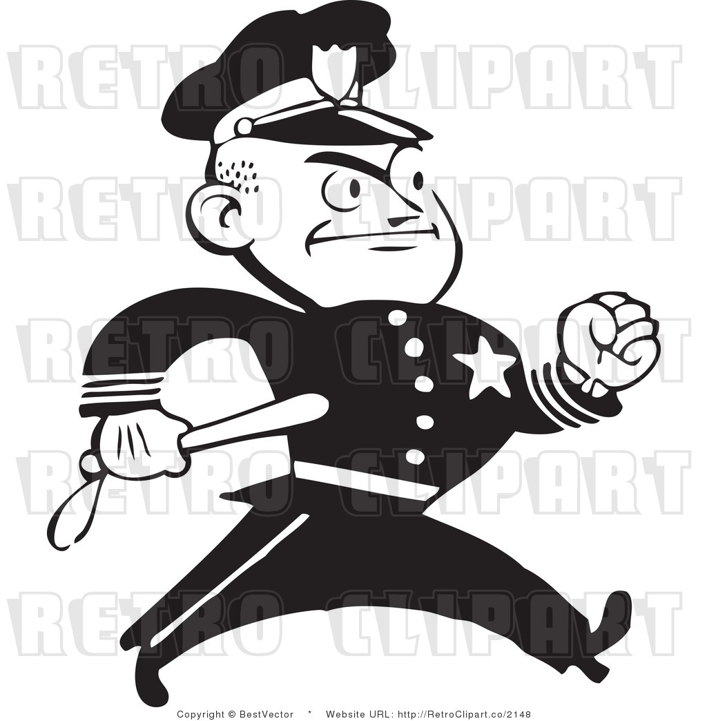 Angry cop clipart.