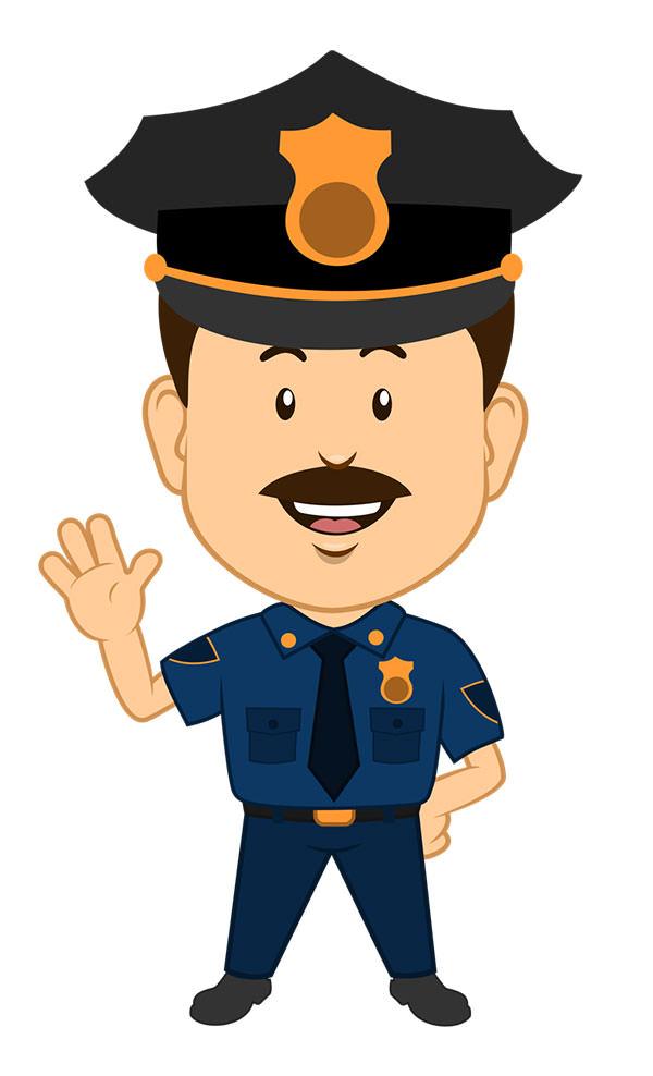 15+ Free Vector Police Cartoon Clipart.