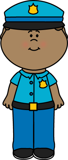 Police officer uniform clipart.