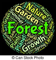 Stock Illustrations of Deforestation Word Shows Clear Forests And.