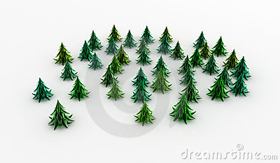 Copse Trees Stock Illustrations.