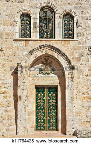 Stock Image of Entrance to the Coptic Church k11764435.