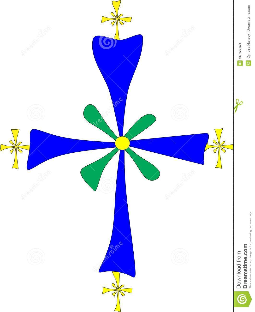 Christian Symbol: Coptic Cross Royalty Free Stock Photos.