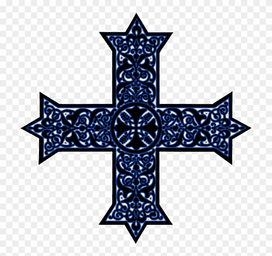 Coptic Crosses In Black, White And Color Combinations.
