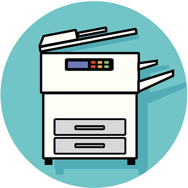 Best Copy Machine Illustrations, Royalty.