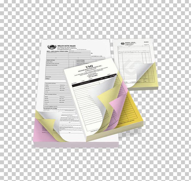 Carbonless Copy Paper Printing Carbon Paper NCR Corporation PNG.