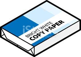 White Copy Paper stock vectors.
