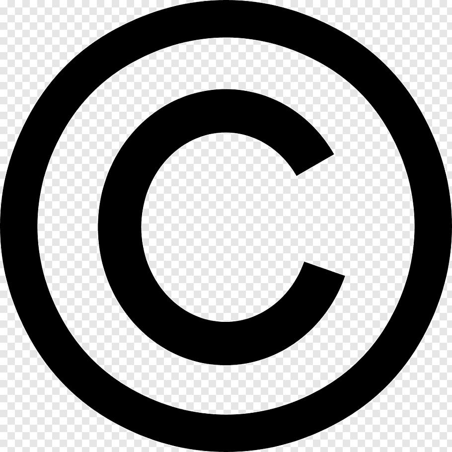 Copyright symbol Registered trademark symbol, symbol free.