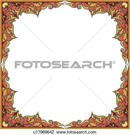 Clipart of Square frame with copy space u17969642.