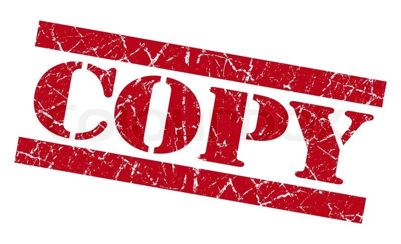 Copy red grunge stamp.