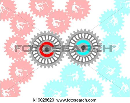 Clipart of copyleft and copyright k19028620.