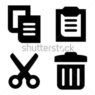 Cut and paste clipart.