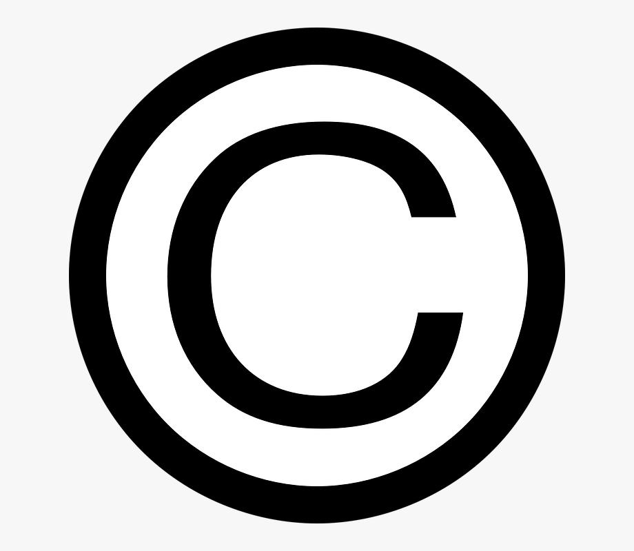 Free Vector Thin Copyright Symbol Clip Art.