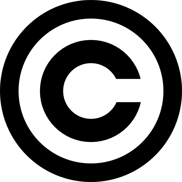 Copyright clip art Free vector in Open office drawing svg.