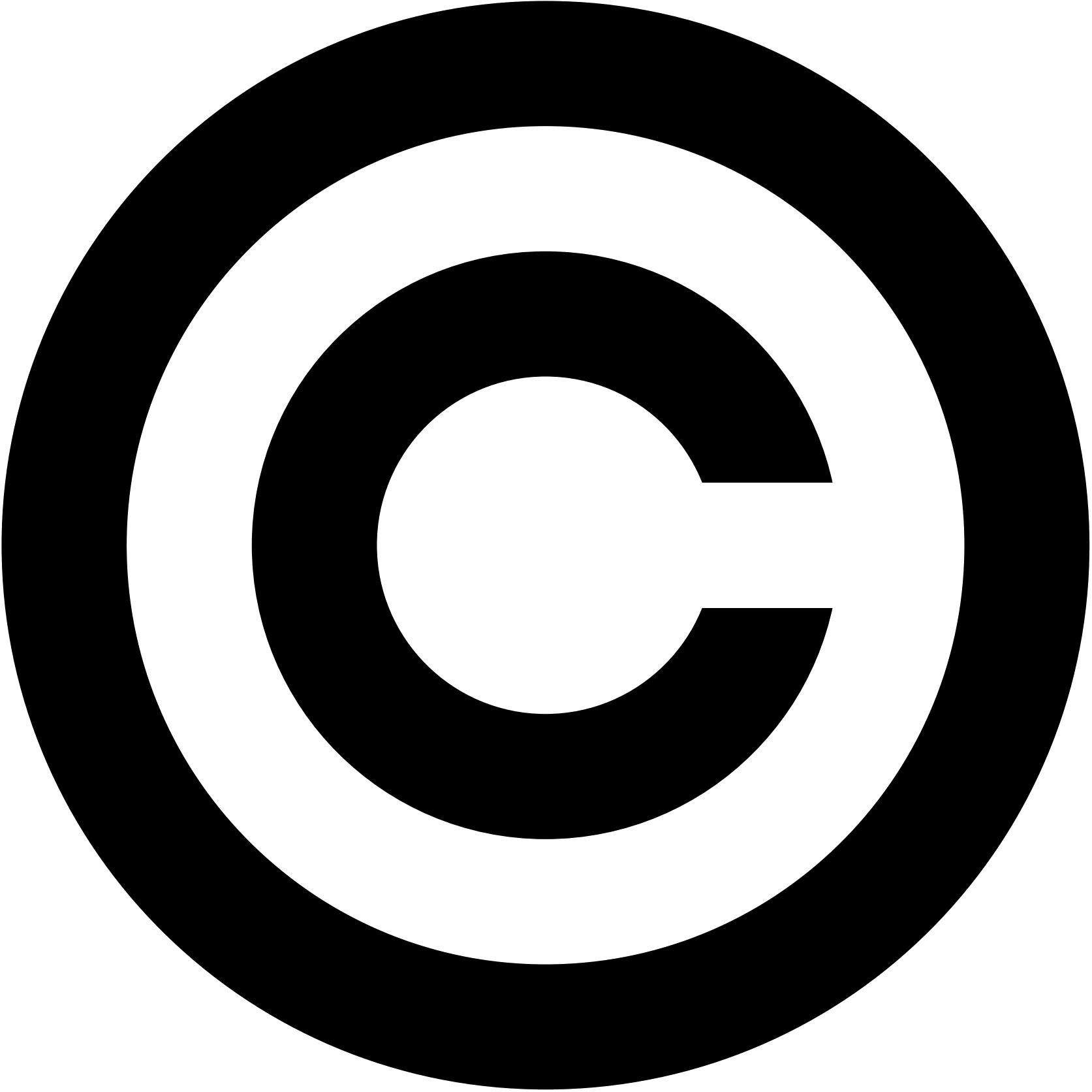 Copyright Symbol Clipart.