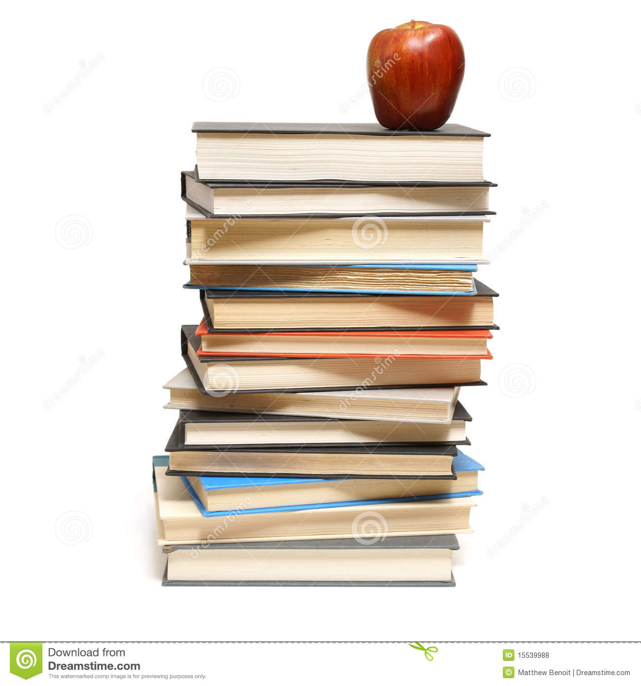 Stacked Books Royalty Free Stock Photos.