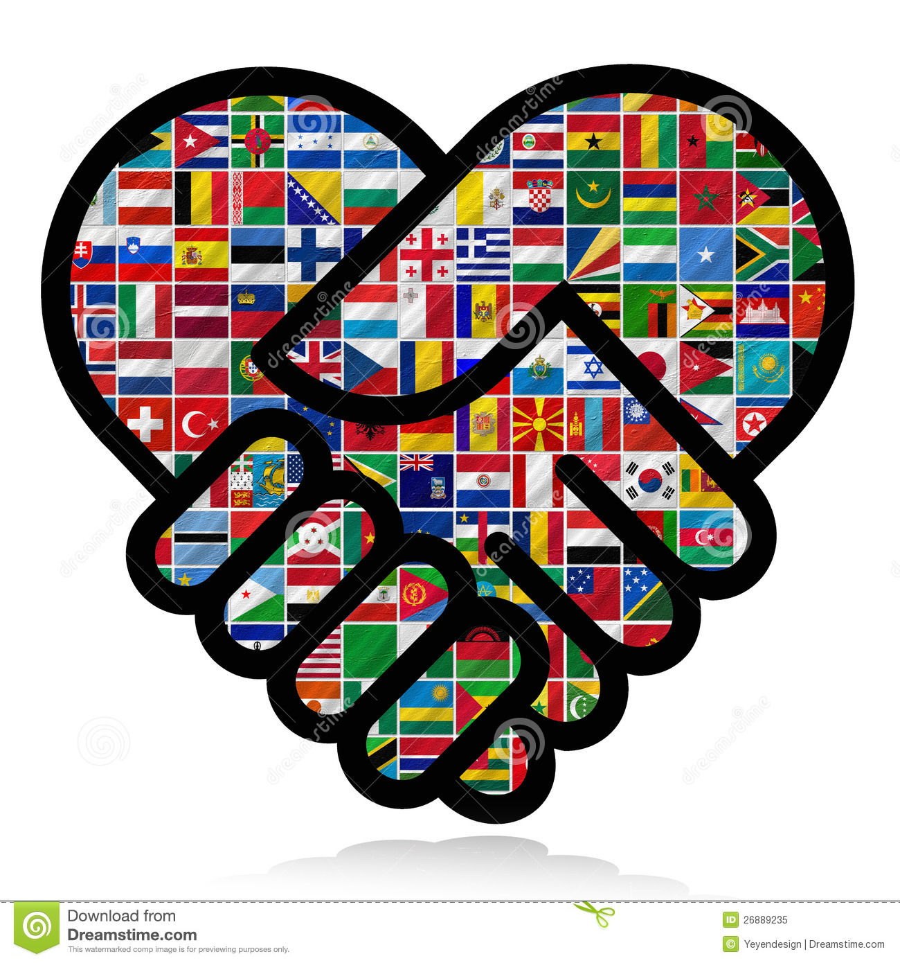 Flags Of The World With Icon Set Royalty Free Stock Photo.