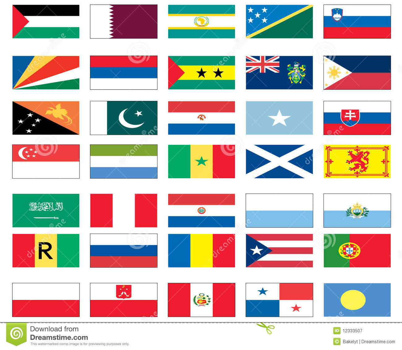 Flags Of The World 6 Of 8 Royalty Free Stock Photography.