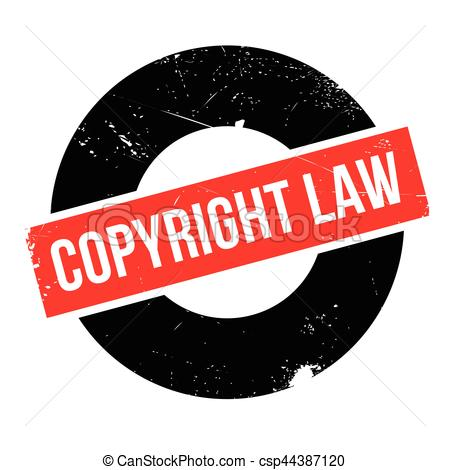 Copyright Law rubber stamp.
