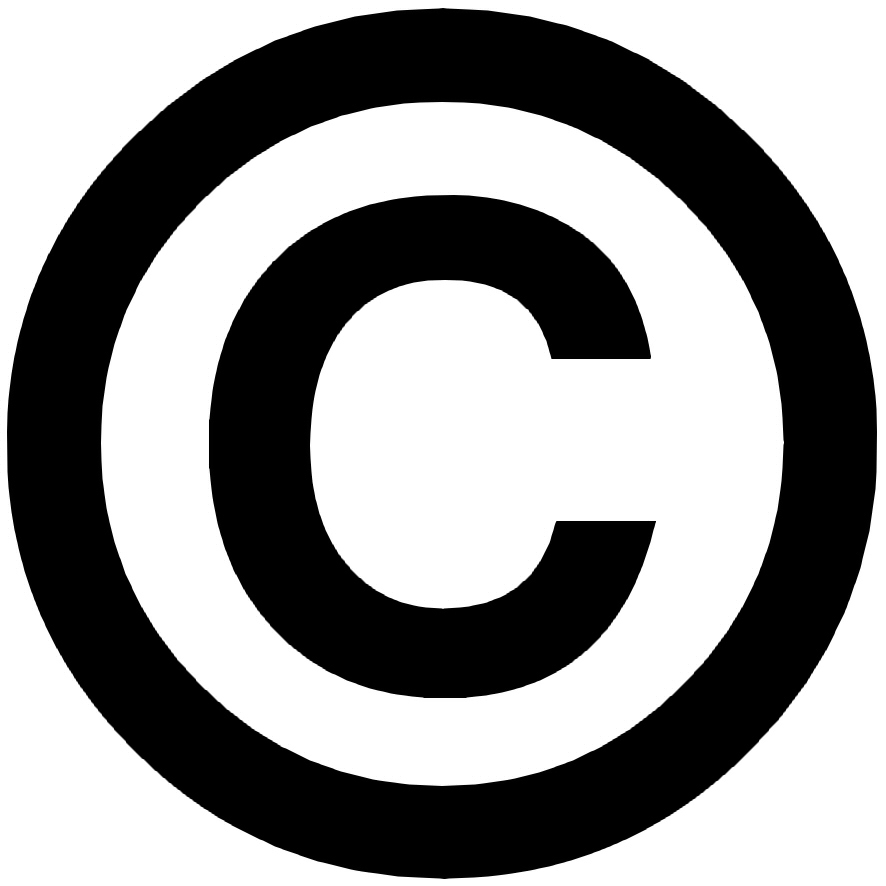 image copyright, logo copyright ©, signe copyright ©, sigle.
