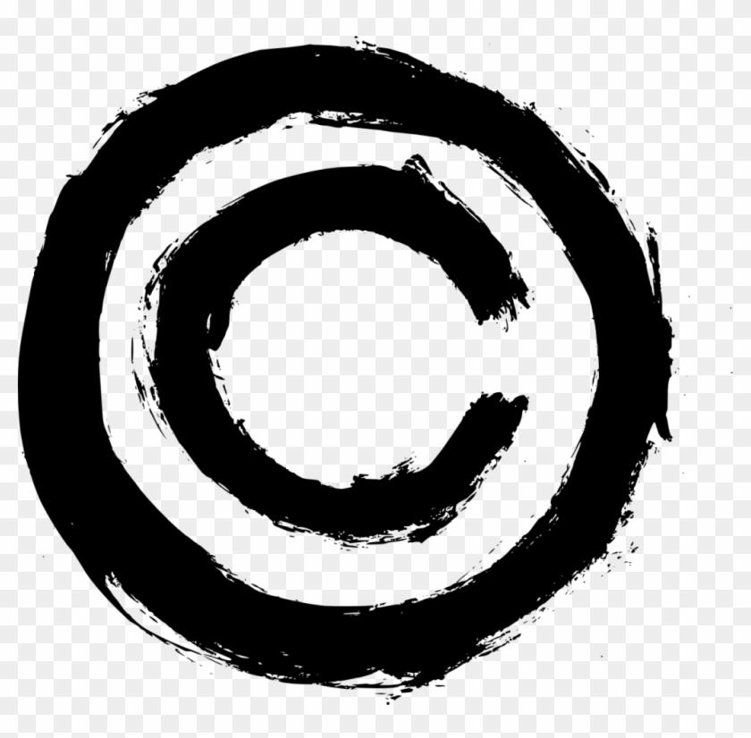 4 Grunge Copyright Symbol.