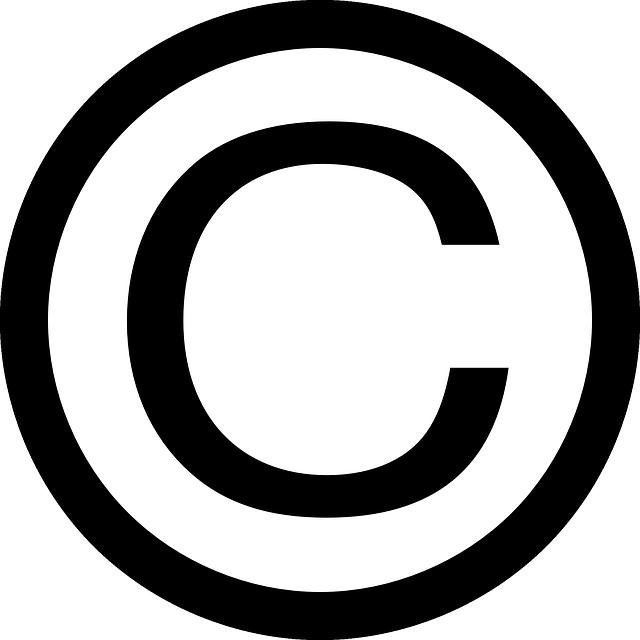 Copyright Symbol Sign.