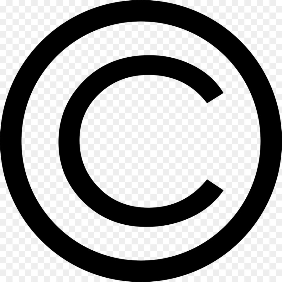Copyright Symbol Black And White png download.