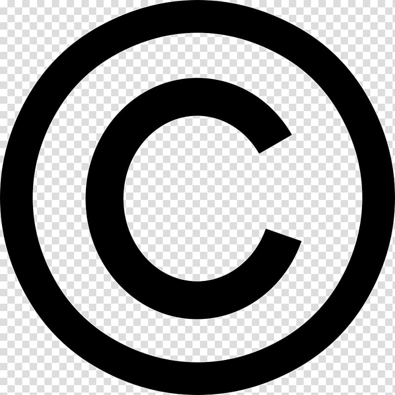 Copyright symbol Registered trademark symbol, symbol transparent.
