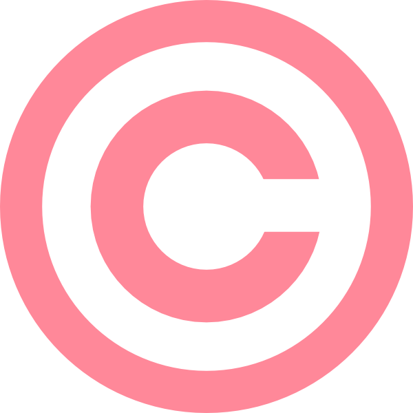 Pink Copyright Clip Art at Clker.com.