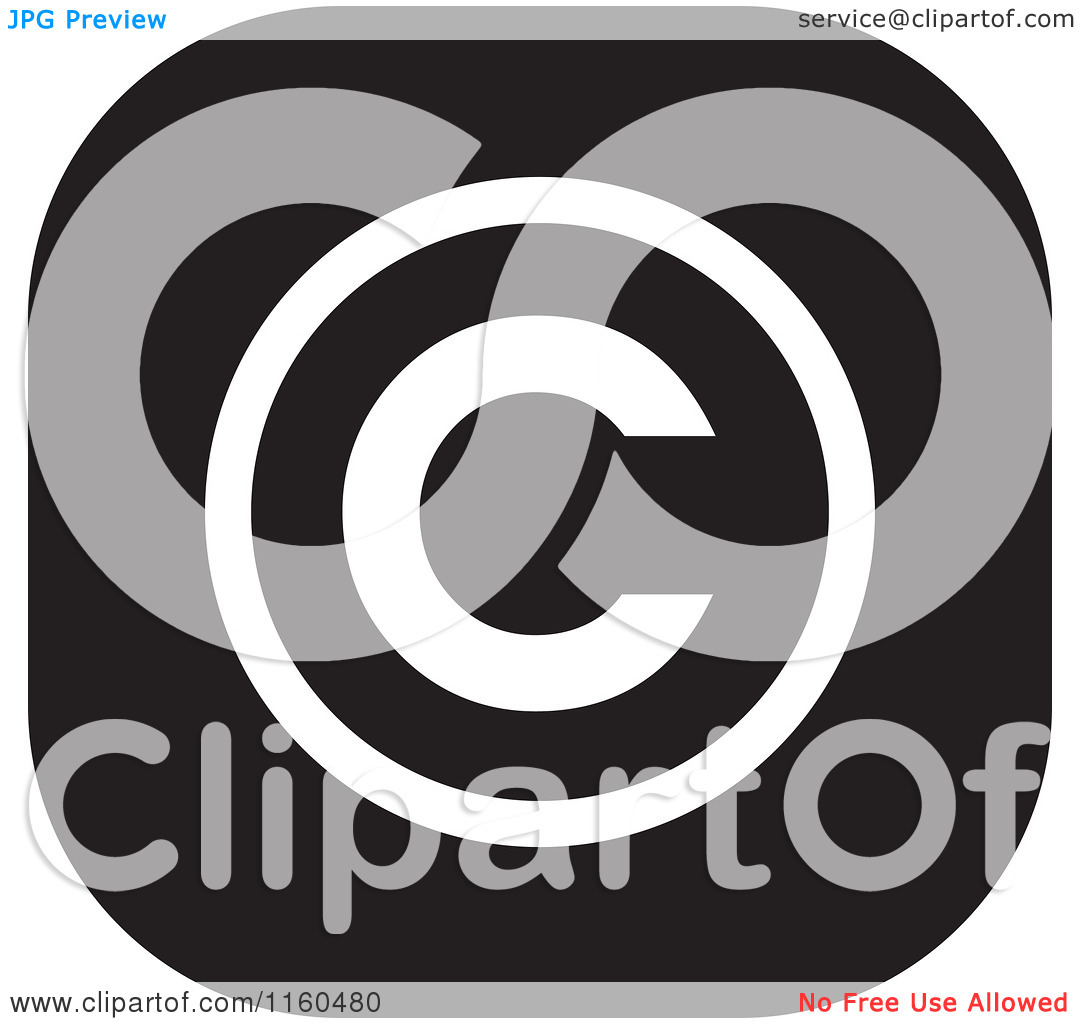 Clipart of a Black and White Copyright Icon.