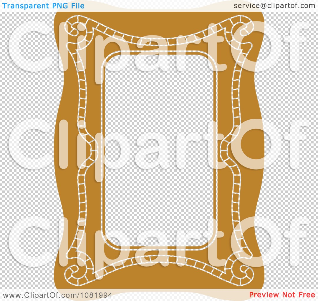 Clipart Brown Frame Border With Copyspace 1.