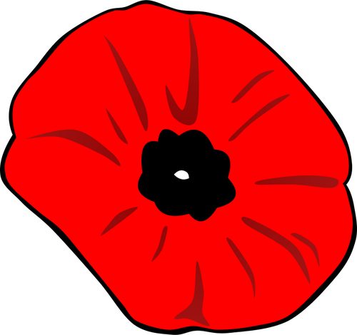 Remembrance Day poppy vector image.