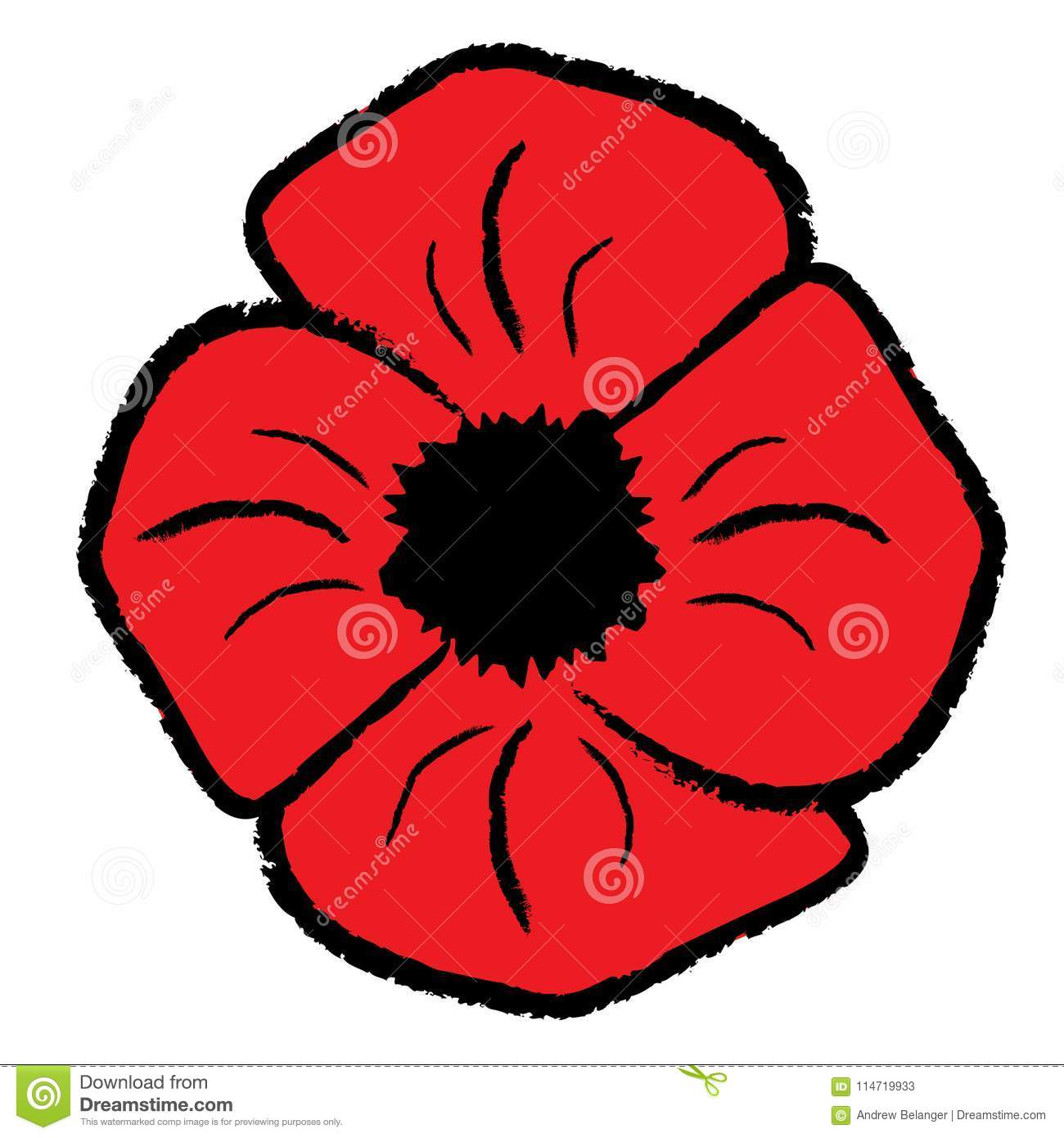 Red Poppy Clipart stock vector. Illustration of isolated.