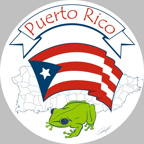 Amazon.com: Puerto Rican Flag and national symbol of coqui with the.