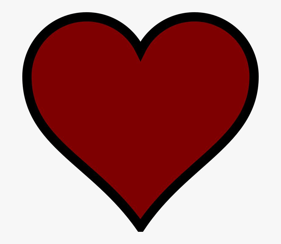 Red, Heart, Dark.