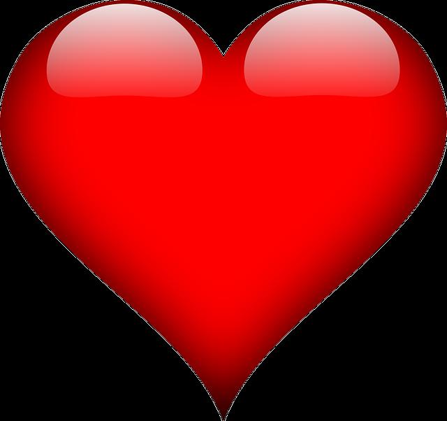 Coração em png com fundo transparente.