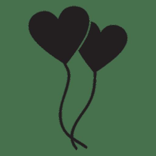 Balão de coração desenho png 1 » PNG Image.