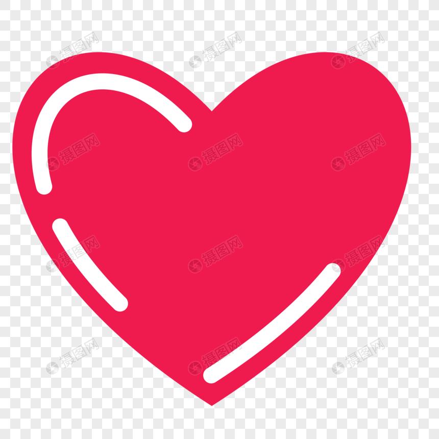 gráfico de coração vermelho dos desenhos animados Imagem.