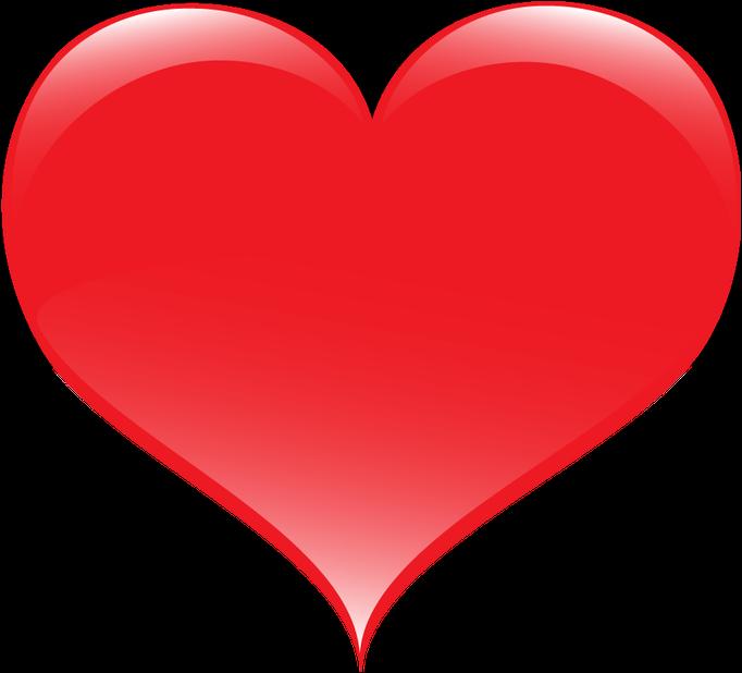 Coração Desenho vermelho vetor.