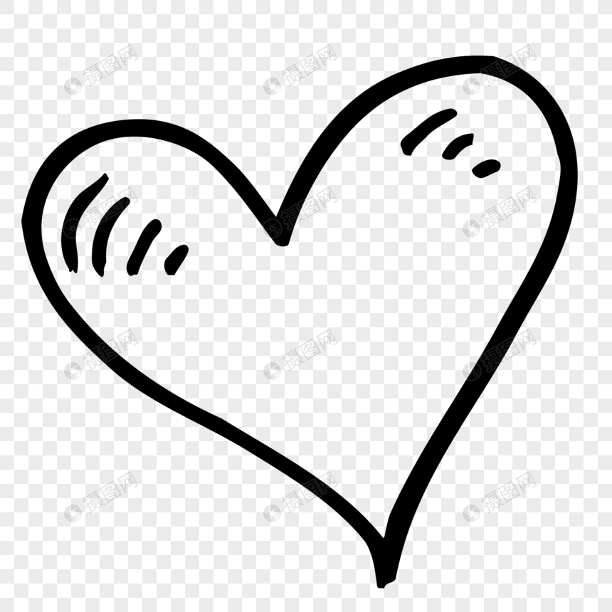 desenho de linha amor coração Imagem Grátis_Gráficos Número.