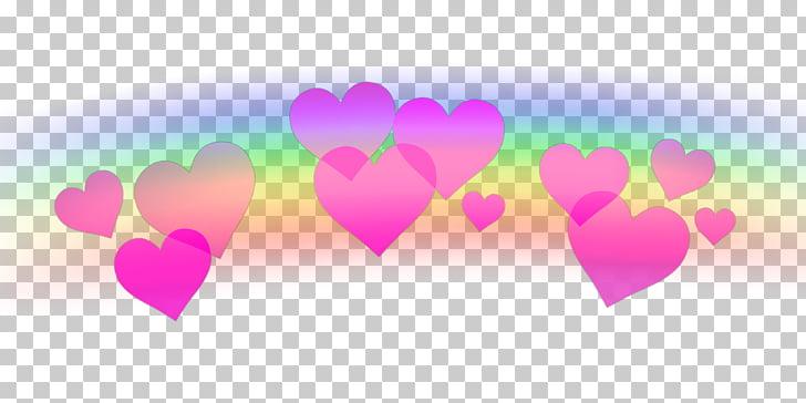 Hearts Sticker PicsArt Photo Studio, Emoji Coração PNG.